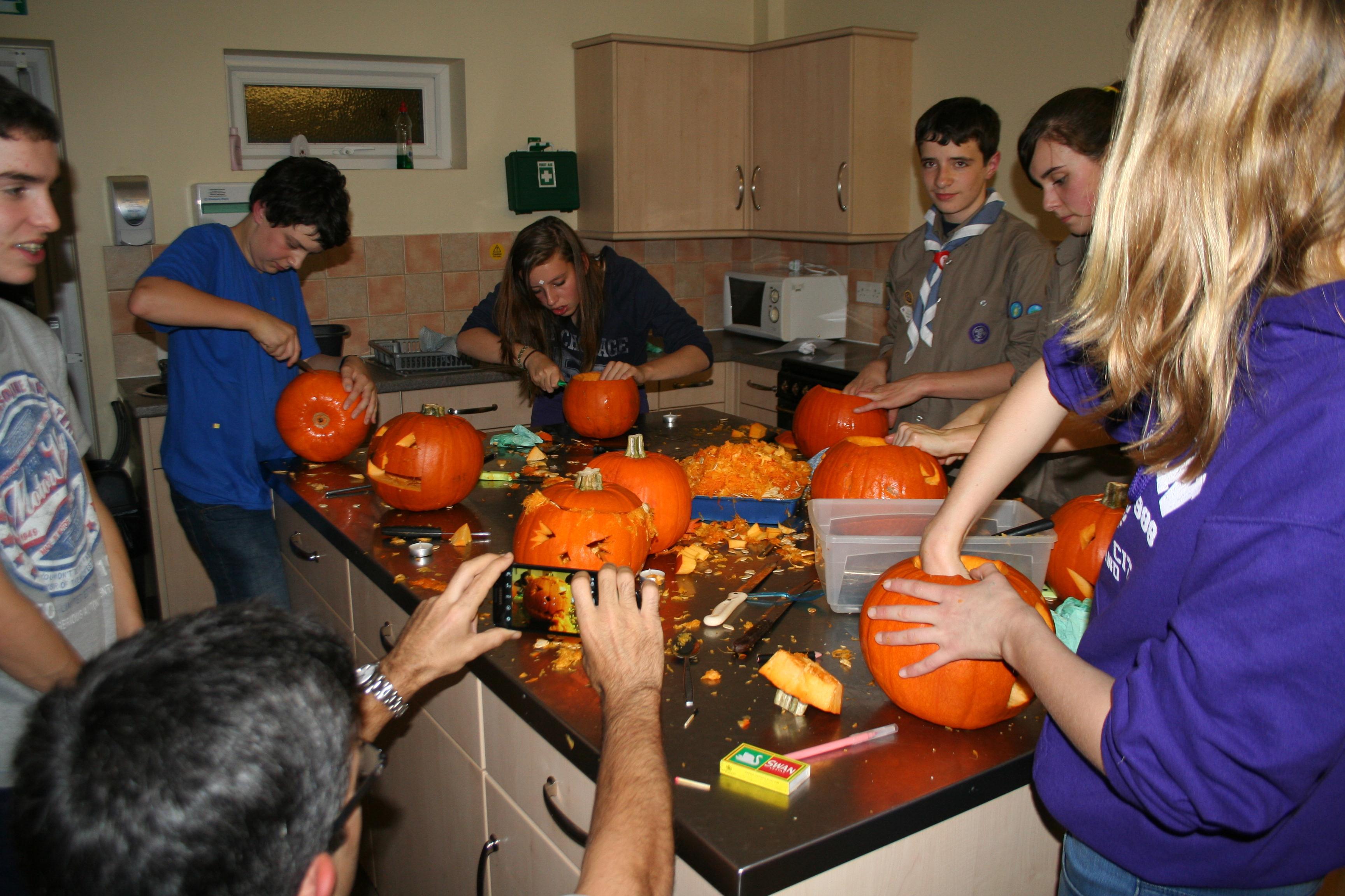 Thursday 25th Oct - Explorers + Pumpkins = Mess!